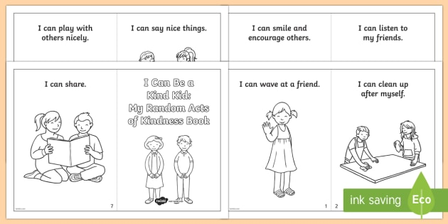Random Acts of Kindness Activity Booklet - Kindness, friendship, relationships, coloring, booklet, caring