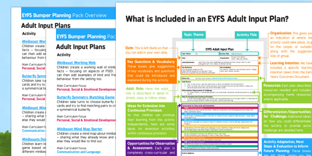 EYFS Minibeasts Bumper Planning Pack Overview