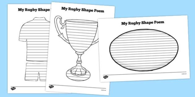 Rugby Shape Poetry - australia, shape poetry, shape, poetry, poem