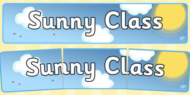Sunny Class Display Banner - sunny class, display banner, display