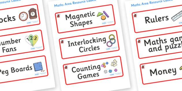 Ladybug Themed Editable Maths Area Resource Labels - Themed maths resource labels, maths area resources, Label template, Resource Label, Name Labels, Editable Labels, Drawer Labels, KS1 Labels, Foundation Labels, Foundation Stage Labels, Teaching Lab