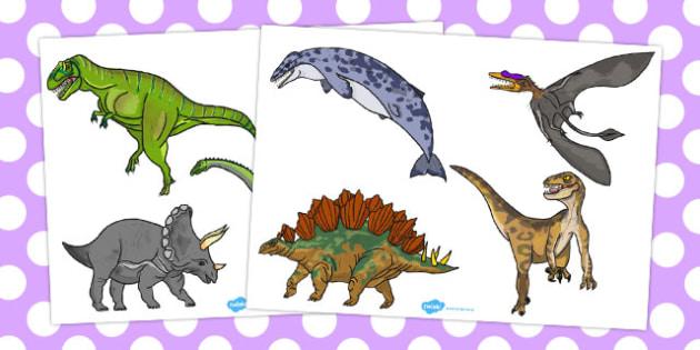Realistic Dinosaurs Cut Outs - australia, dinosaur, cut outs