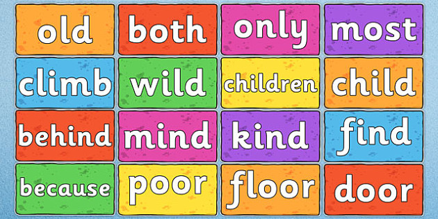 Year 2 Common Exception Words on Multicoloured Bricks - common exception, words