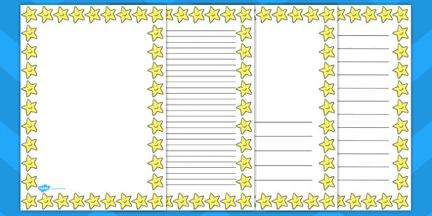 Smiley Star Page Border - star, page, borders, smiley, stars