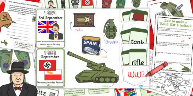 World War Two Lapbook Creation Pack - lapbook, pack, world war 2