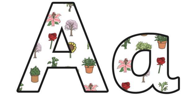 Plants Lowercase Display Lettering - plants, plants lettering, plants letters, plants display letters, plants display, living things, green plants, ks2