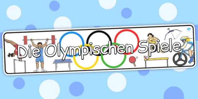 Die Olympischen Spiele German - german, display, banner