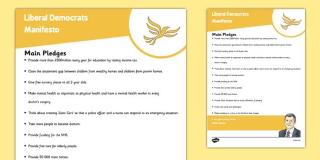 Scottish Elections 2016 Scottish Liberal Democrats Party Manifesto Child Friendly - Scottish Elections, Politics, Holyrood 2016, Politicians, voting, electing, main pledges