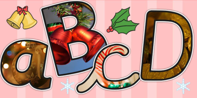 Christmas Themed A4 Photo Display Lettering - christmas, letters