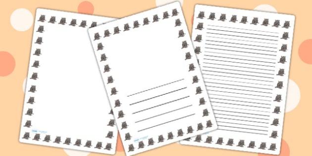 Rat Page Borders - rat, page borders, borders, writing, templates
