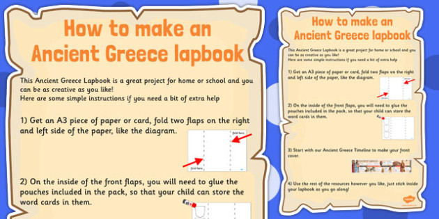 Ancient Greece Lapbook Instructions - lapbook, instructions