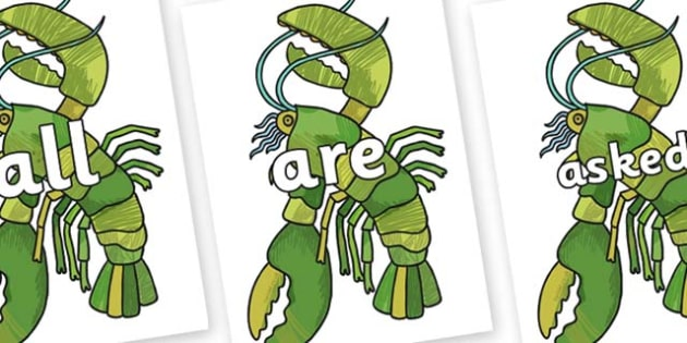 Tricky Words on Lobster to Support Teaching on The Bad Tempered Ladybird - Tricky words, DfES Letters and Sounds, Letters and sounds, display, words
