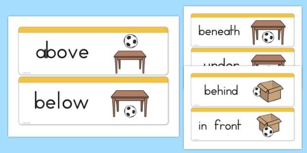 Positional Vocabulary Cards USA - usa, america, positional, vocabulary, cards