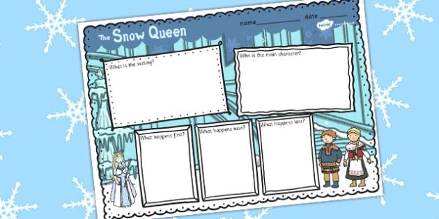 The Snow Queen Book Review Writing Frame - frames, reviews, write