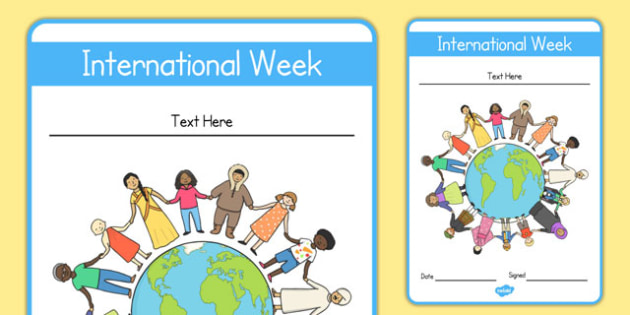 Editable International Week Certificate - editable, international, week, certificate