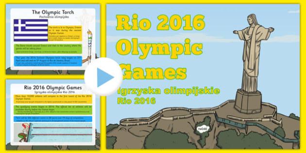 KS1 Rio Olympics 2016 Information PowerPoint Polish Translation - polish, Olympic Games 2016, KS1, olympics, Rio, Brazil, information powerpoint