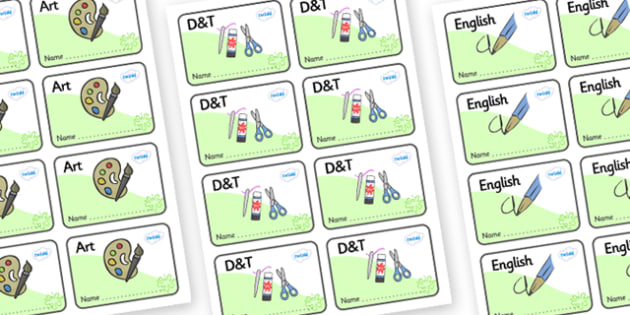 Green Themed Editable Book Labels - Themed Book label, label, subject labels, exercise book, workbook labels, textbook labels