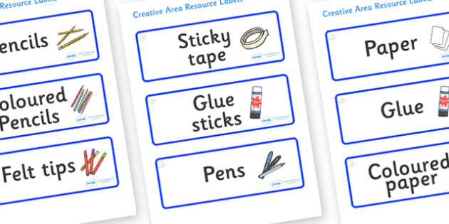 Crystals Themed Editable Creative Area Resource Labels - Themed creative resource labels, Label template, Resource Label, Name Labels, Editable Labels, Drawer Labels, KS1 Labels, Foundation Labels, Foundation Stage Labels