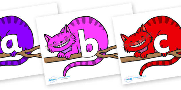 Phoneme Set on Cheshire Cats - Phoneme set, phonemes, phoneme, Letters and Sounds, DfES, display, Phase 1, Phase 2, Phase 3, Phase 5, Foundation, Literacy