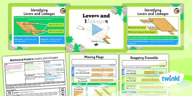 D&T: Mechanical Posters: Levers and Linkages LKS2 Lesson Pack 2