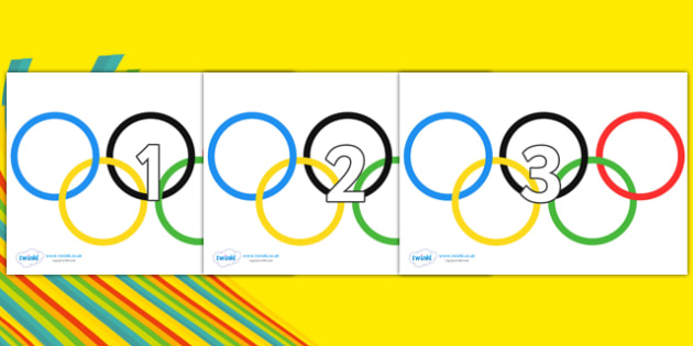 Numbers 0-100 on Olympic Rings - 0-100, foundation stage numeracy, Number recognition, Number flashcards, counting, number frieze, Display numbers, number posters