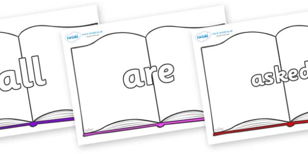 Tricky Words on Books - Tricky words, DfES Letters and Sounds, Letters and sounds, display, words