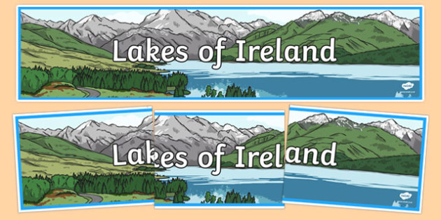 Lakes of Ireland Display Banner-Irish