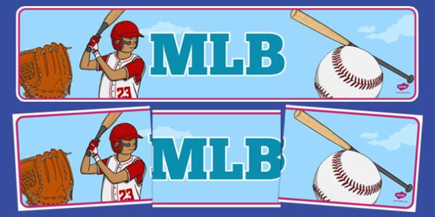 MLB Display Banner - mlb, display banner, display, banner, major league baseball, baseball