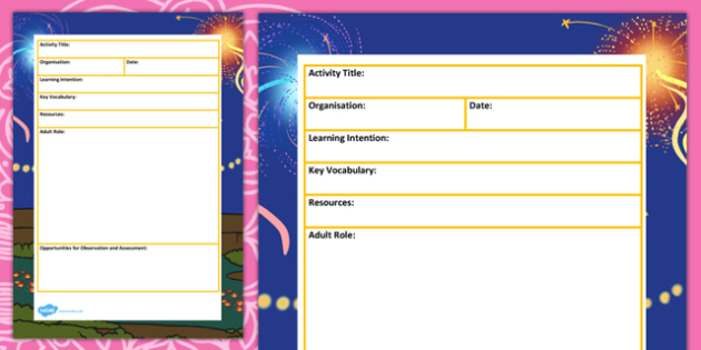 Diwali Themed Adult Led Carpet Based Activity Planning Template