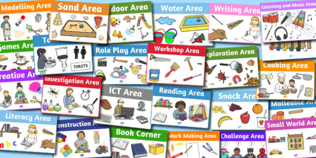 Classroom Area Signs Pack - classroom, area signs, pack, signs