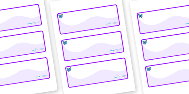 Butterfly Themed Editable Drawer-Peg-Name Labels (Colourful) - Themed Classroom Label Templates, Resource Labels, Name Labels, Editable Labels, Drawer Labels, Coat Peg Labels, Peg Label, KS1 Labels, Foundation Labels, Foundation Stage Labels, Teachin