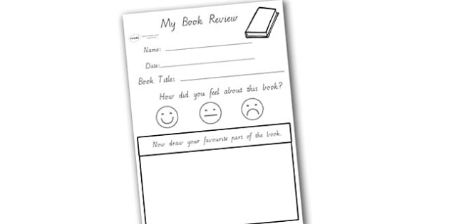 My Book Review Writing Worksheet - writing, reading, books