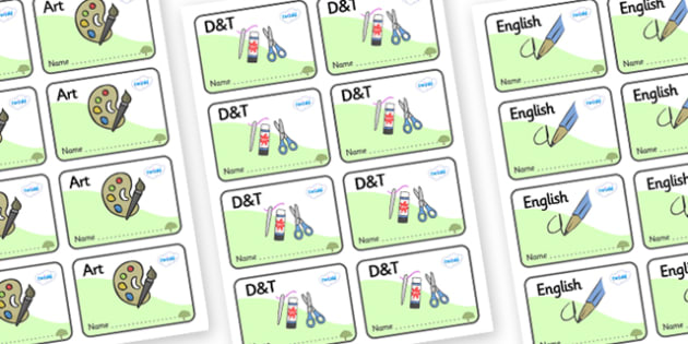 Apple Tree Themed Editable Book Labels - Themed Book label, label, subject labels, exercise book, workbook labels, textbook labels