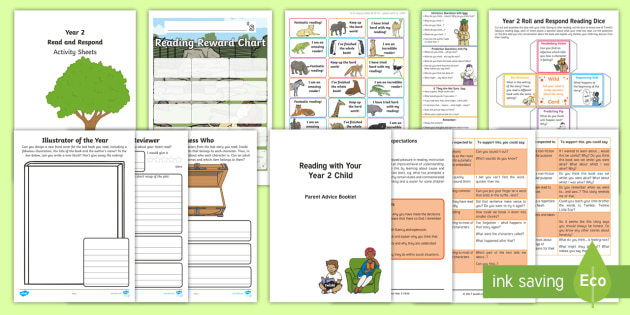 Year 2 Reading At Home Resource Pack - Y2, ks1, Comprehension, Understanding, Reading Dogs, Parents, Questioning