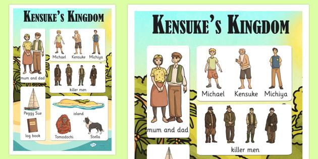 Kensuke's Kingdom Vocabulary Mat - stories, story books, vocab