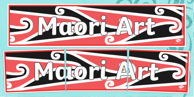 Maori Art Display Banner - Maori Art Display Banner, Maori Patterns, Marori Art, Art, display, banner, sign, poster, drawing, Japan, Japanese