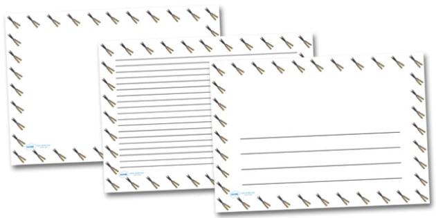 Garden Shears Landscape Page Borders- Landscape Page Borders - Page border, border, writing template, writing aid, writing frame, a4 border, template, templates, landscape