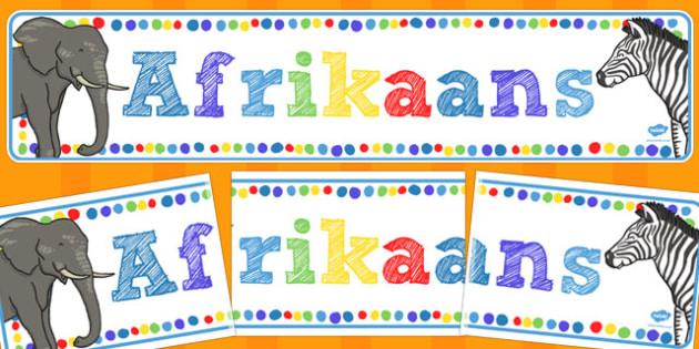 Afrikaans Vertoon Banier - vertoon banier