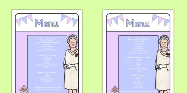 Royal Afternoon Tea Role Play Menu Polish Translation - polish, royal, afternoon tea, role play, menu