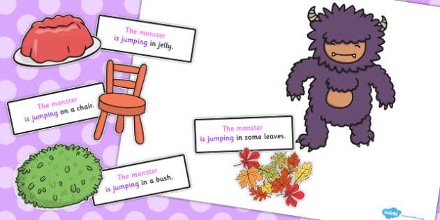 Monster Jumping Sentence Activity - sentence, activity, monster