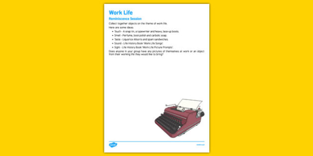 Elderly Care Life History Book Work Life Reminiscence Session - Elderly, Reminiscence, Care Homes, Life History Books