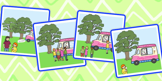 Sequencing Cards Ice Cream Van - ice cream, sequencing, cards