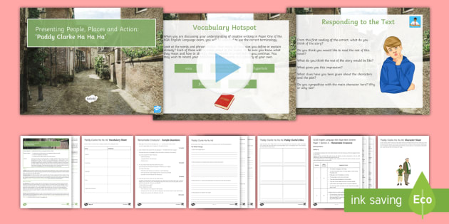AQA P1 Reading Booklet Lesson Pack - AQA P1 Reading Booklet, paper one., AQA, Paper 1, English Language, Roddy Doyle, Paddy Clarke Ha Ha