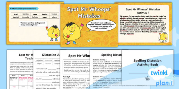 PlanIt Y4 Term 1A Assess and Review Spelling Pack