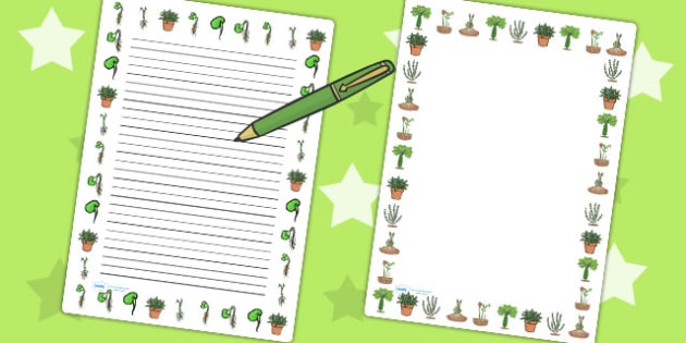 Life Cycle of a Plant Portrait Page Borders - Australia, Plant