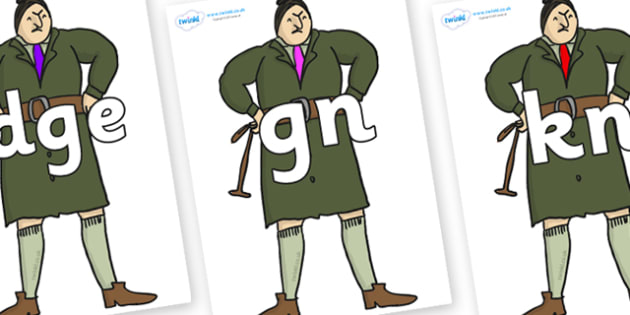 Silent Letters on Mrs Trunchbull to Support Teaching on Matilda - Silent Letters, silent letter, letter blend, consonant, consonants, digraph, trigraph, A-Z letters, literacy, alphabet, letters, alternative sounds