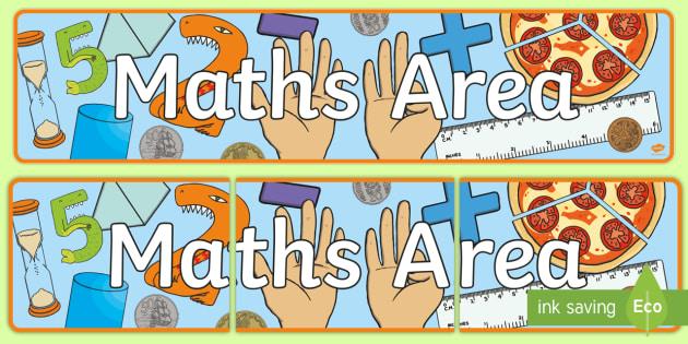 Maths Area Display Banner - Maths Displays, math, banner