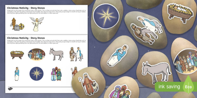 Christmas Nativity Story Stones