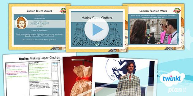 Art: Bodies: Making Paper Clothes LKS2 Lesson Pack 6