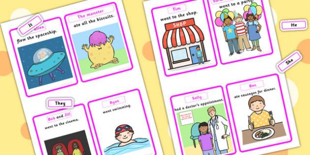 Replace The Noun With A Pronoun Cards - nouns, pronouns, SEN, games